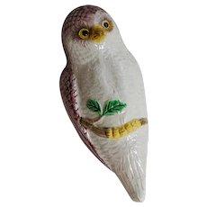 Sweet Owl Majolica Wall Pocket