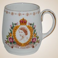 RM Queen Elizabeth 1953 Coronation Souvenir Cup