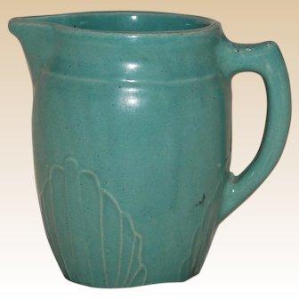 Vintage Aqua Stoneware Pitcher