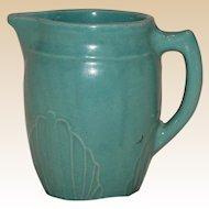 Vintage Monmouth Potteries Aqua Stoneware Pitcher