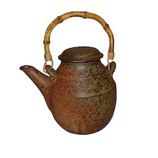 Contemporary Artist Made Japanese Style Stoneware Teapot