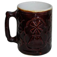 Brown Glazed Beer Mug by Crooksville Burley and Winter Pottery Co