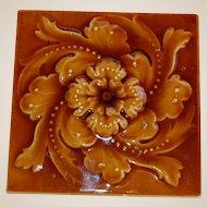 """Lovely 6"""" Majolica English Tile"""