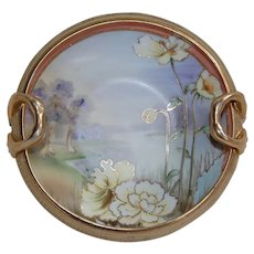 Nippon Bowl with Recurved Handles and Pond Scene