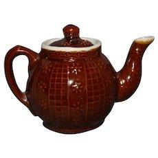 Tiny Brown Betty Raised Decoration Teapot