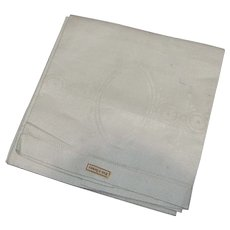 2 German Linen Huck Damask Towel with tags