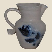 1956 Jamestown Pottery Salt Glazed Stoneware Pitcher