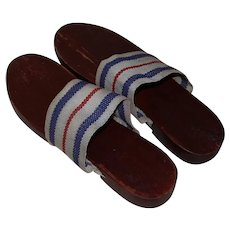 WWII Era Klaks War Model Wooden Sandals