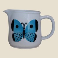 Arabia of Finland Blue Butterfly Creamer Milk Pitcher