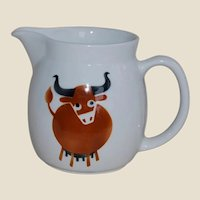 Arabia of Finland Brown Cow Pitcher