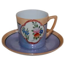 Sweet Japan Luster Demitasse Cup and Saucer