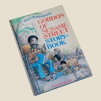 Gordon of Sesame Street Storybook Matt Robinson 1972 4 Stories
