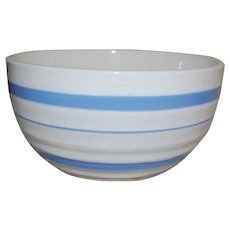 Japan Mixing Bowl with Blue and Pale Yellow Bands