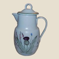 Buchan Scotland Thistle Stoneware Coffee Pot or Water Pitcher