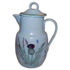 Buchan Scotland Thistle Stoneware Coffee Pot or Water Pitcher