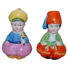 Turkish Boy and Dutch Boy Humorous Big Bottomed Salt and Pepper Shakers