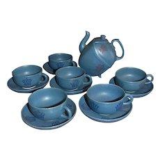 Vintage Modern Artisan Made and Signed Tea Pot Set