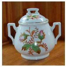 Antique Rose Bud Biscuit Jar