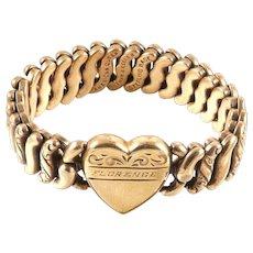 Sweetheart Expansion Bracelet Pitman and Keeler American Queen Sterling Base Vintage