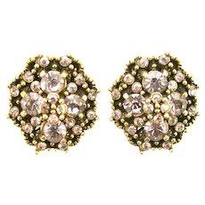 38260a - HOLLYCRAFT 1950 Light Amethyst (Lavender) Stones Screw Back Earrings