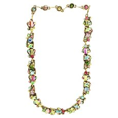 38947a - HOLLYCRAFT 1957 Multi Pastel Colored Necklace/Dog Collar
