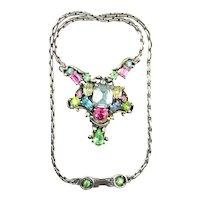 39527a - HOLLYCRAFT 1953 Pastel Center Piece Choker/Pendant/Necklace
