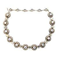 39992a - Hollycraft 1955 Crystal Clear AB Necklace - Choker - Dog Collar
