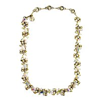 40316a - Hollycraft 1957 Crystal Clear AB Necklace/Dog Collar