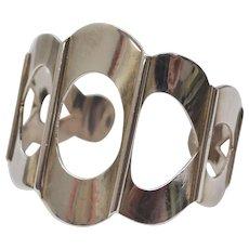 TAXCO Sterling Silver Modernist Style Cuff Bracelet