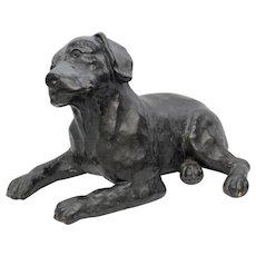 "Circa 1983 ""Snooky"" Merry Scotland Austin Productions Labrador Retriever Dog Sculpture"