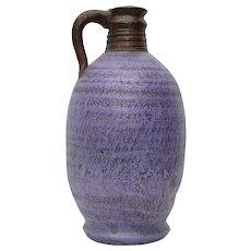 Mexican Purple Clay Pottery Jug or Vase Vessel