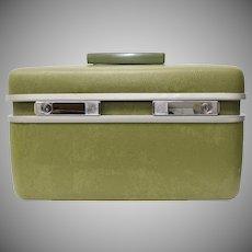 Samsonite Royal Traveller Avocado Green Cosmetic / Carry On / Train Hard Case
