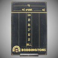 Boddington's Beer Ale Advertising Black Chalkboard Wall Decor