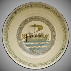 Rare Royal Doulton Bayeux Tapestry Battle of Hastings Large Ceramic Serving Bowl