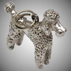 Sterling Silver Fancy Poodle Dangle Charm