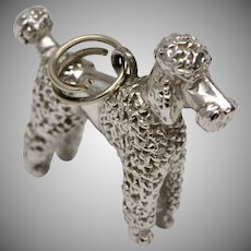 Sterling Silver Fancy Poodle Dangle Charm