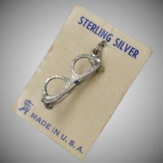 Sterling Silver Eye Glasses Dangle Charm