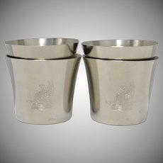 Royal Holland Pewter Small Cups - Set of 4 w/ No Monogram