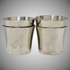 Royal Holland Pewter Shot Glasses - Set of 4 w/ No Monogram
