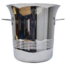 Guy DeGrenne Made in France Art Deco Inspired Stainless Steel Ice Bucket