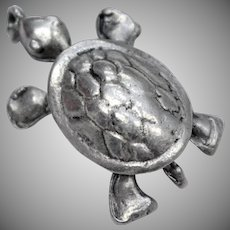 Solid Sterling Silver Turtle Dangle Charm