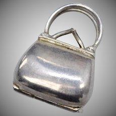 Sterling Silver Mechanical Purse/Handbag Dangle Charm