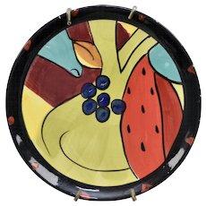 "Salvador Dali ""Still Life - Sandia 1924"" Inspired Hand-painted Ceramic Plate - Dali Museum"