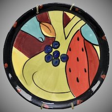"Salvador Dali ""Still Life - Sandia 1924"" Inspired Hand-painted Ceramic Plate - Dali Museum"