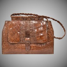 Large Genuine Alligator Handbag