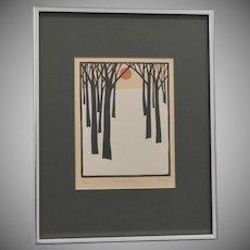 "Signed John Sovjani ""Winter Scene"" Print # 9/100"