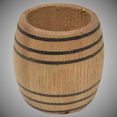 Dollhouse Miniature Half Full Wooden Barrel