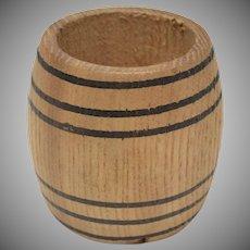 Dollhouse Miniature Half Full Wooden Barrel