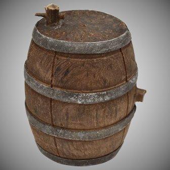 Dollhouse Miniature Tapped Wooden Barrel
