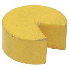 Dollhouse Miniature Wooden Cheddar Cheese Wheel